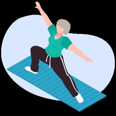 Йога для пожилых и пенсионеров. Мягкая и простая практика