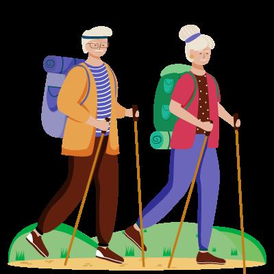 Обучение скандинавской ходьбе