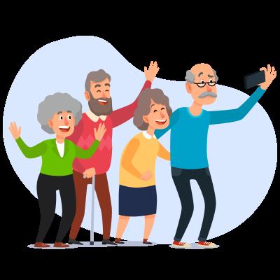 Социальный опрос Пожилые люди