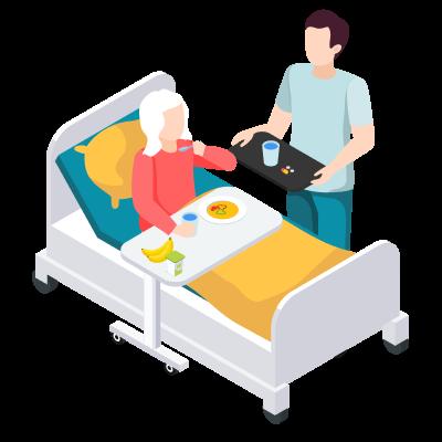 Как покормить больного в постели